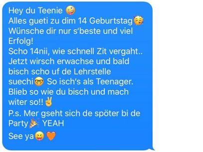 Message 14ter Geburtstag