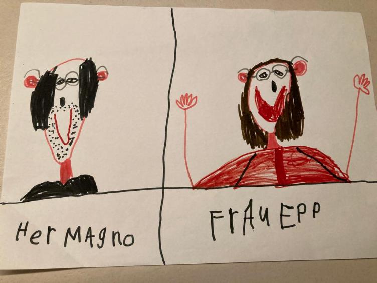 Kinderzeichnung Aldo Magno