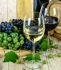 Wein, rot und weiss
