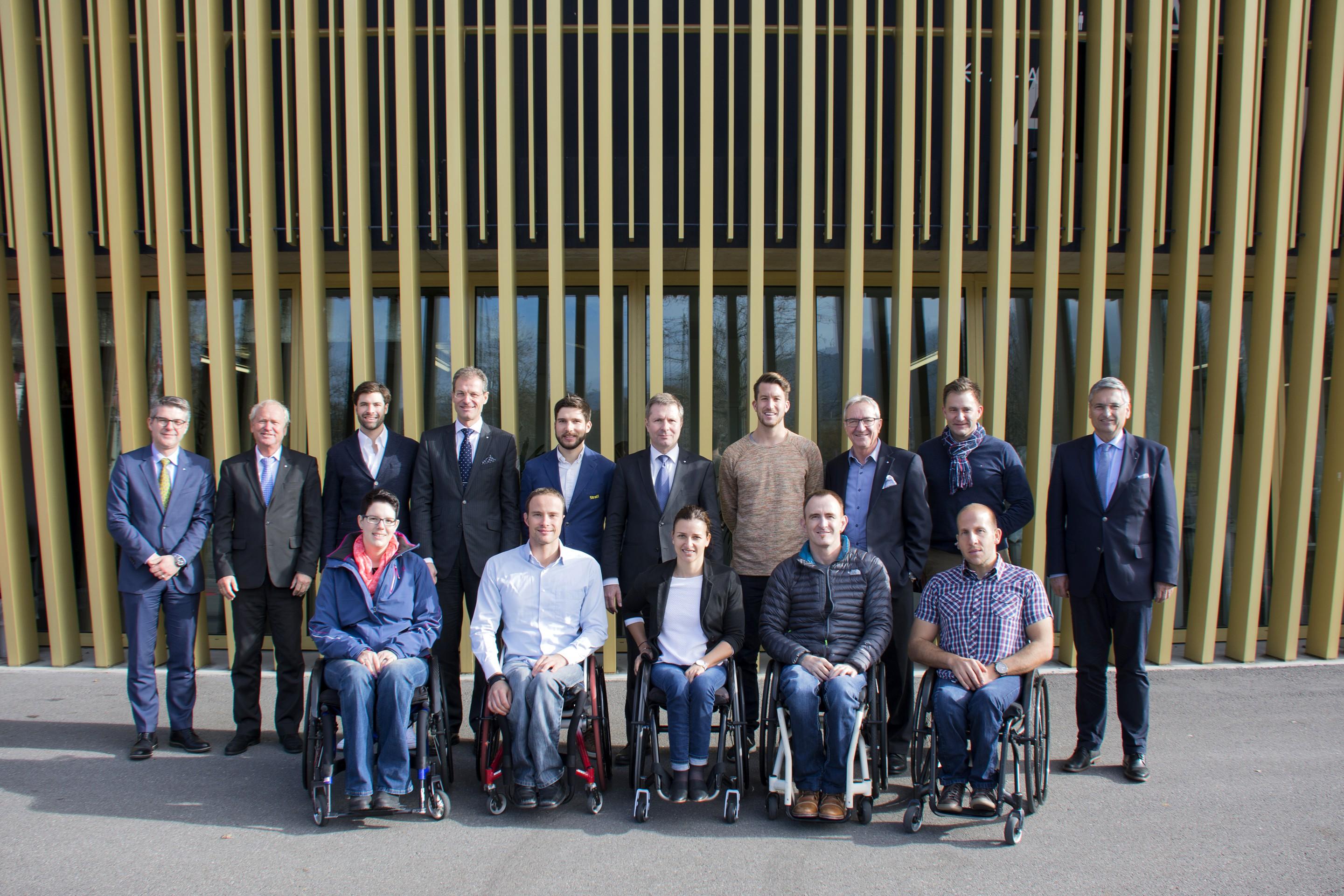 Der Regierungsrat des Kantons Luzern und die Olympioniken