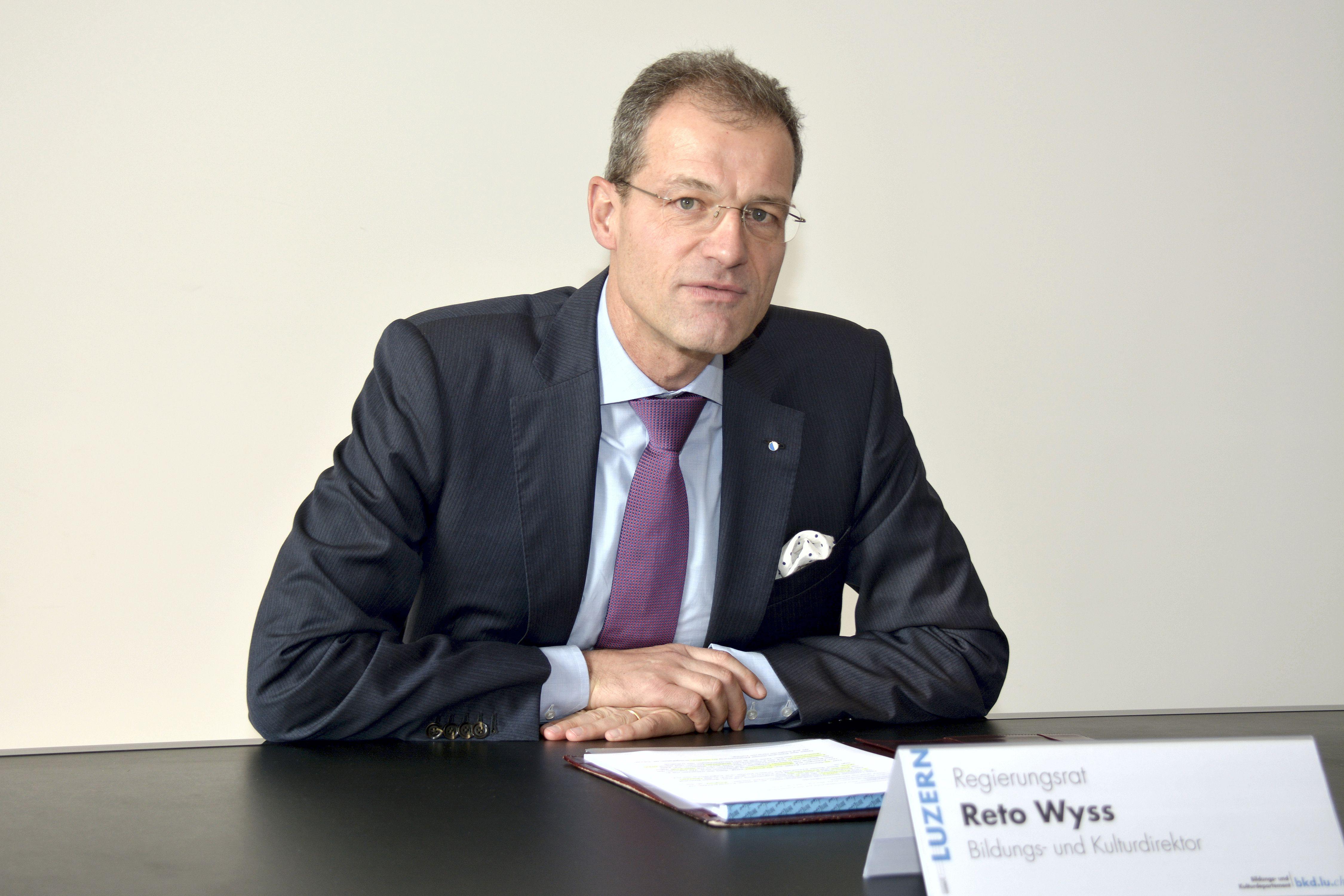 Regierungsrat Reto Wyss, Bildungs- und Kulturdirektor des Kantons Luzern